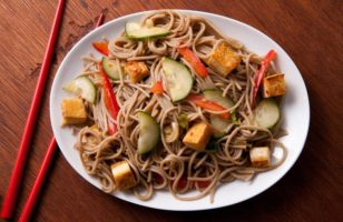 Korean Bean Thread Sesame Noodles With Vegetables